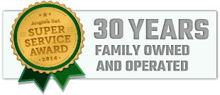 30 Years Family Owned and Operated Small Award