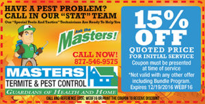 Masters Pest Control - Fall Coupon